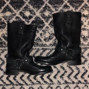 RARE Frye Disc Distressed Harness Boots 10